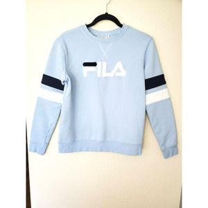 Fila Logo Women's Blue Crewneck Sweatshirt
